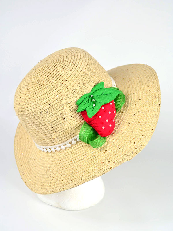 Girl Pamela hat with fruit design, various models